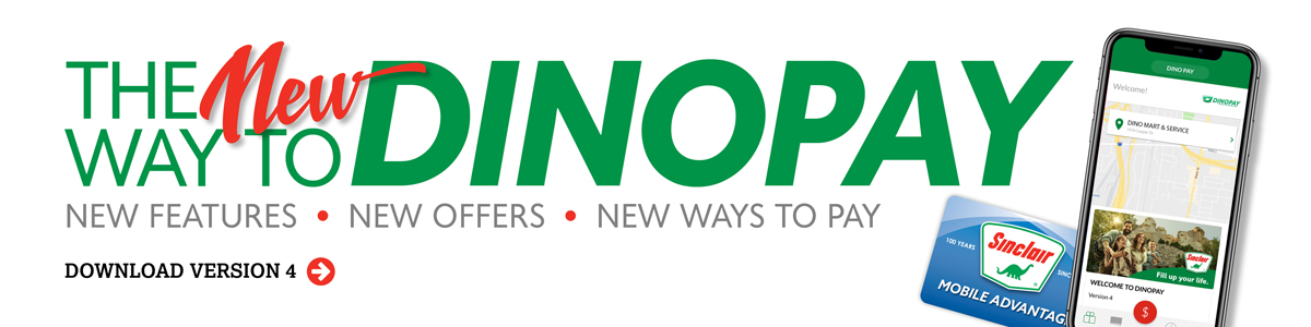 The New Way to DINOPAY, new features, new offers, new ways to pay. Download version 4.