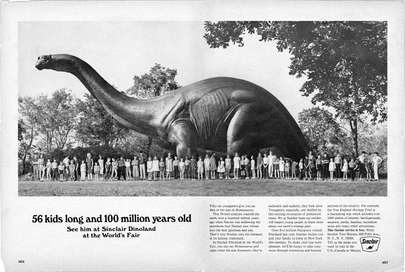 Sinclair Dinoland Waxy-Plastic Dinosaurs - Pavilions & Attractions ...