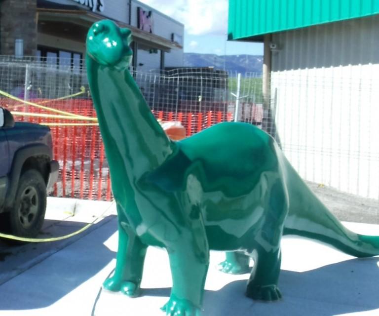 sinclair dino statue