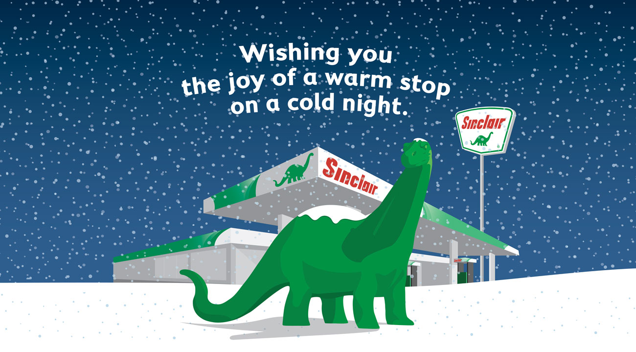 Sinclair, wishing you the joy of a warm stop on a cold night.