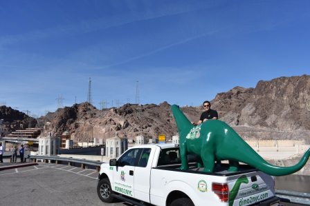 Driver Johnny with DINO at Hoover Dam