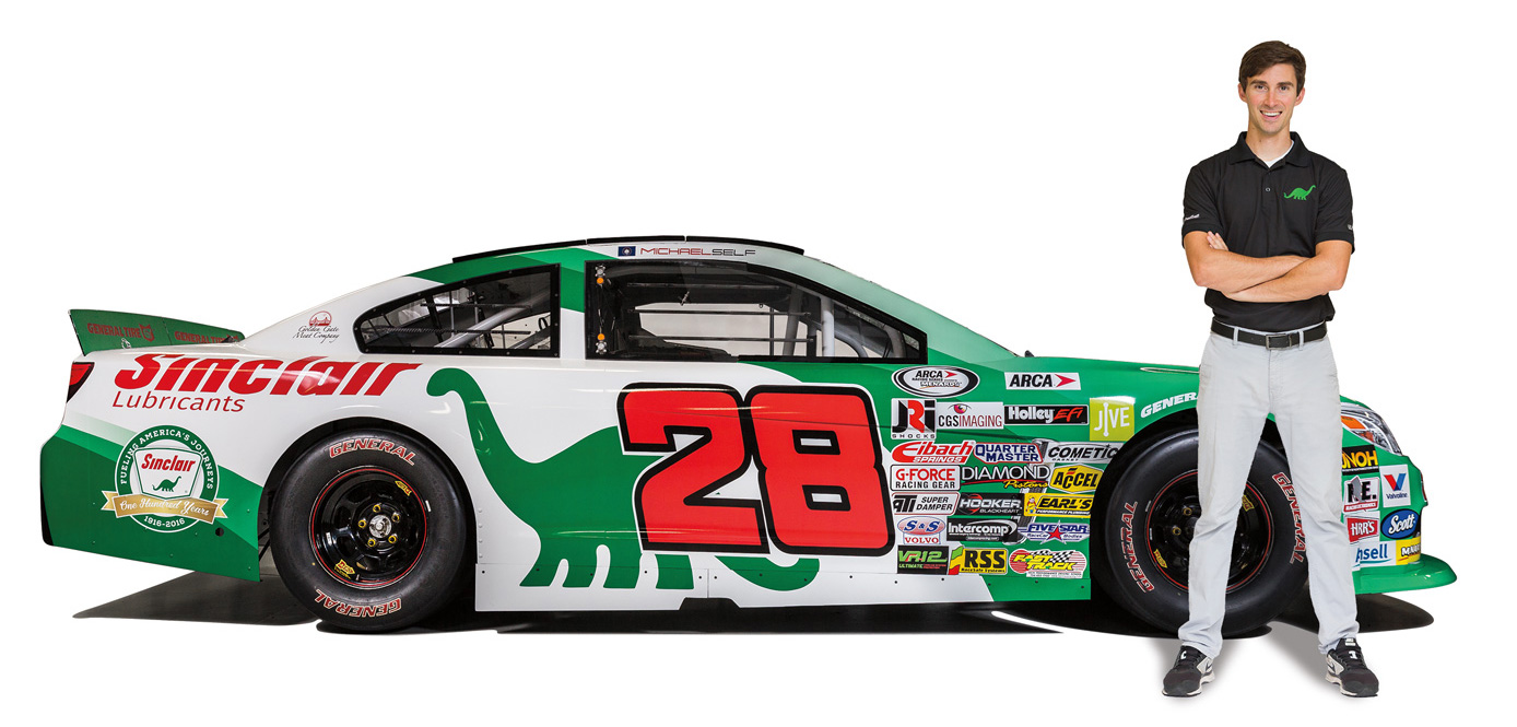 Michael Self with No. 28 Toyota Camry